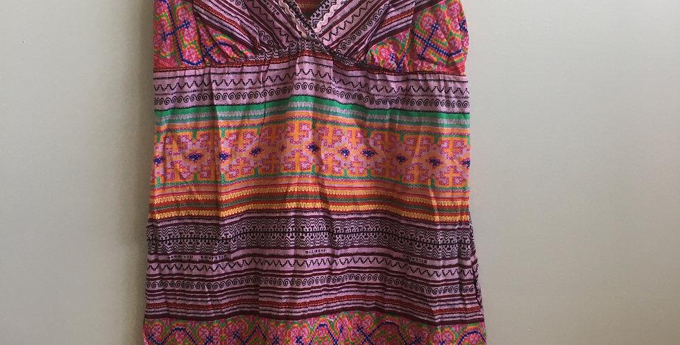 billabong colourful pattern beach dress