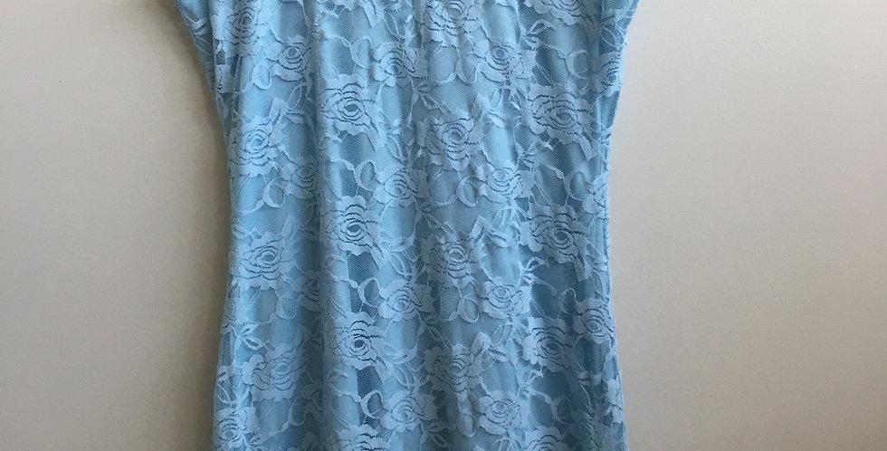zando light blue lace dress