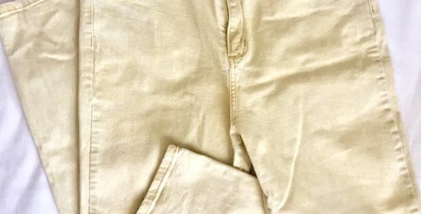 Cotton on pale yellow jeans