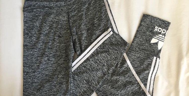 Adidas grey gym tights