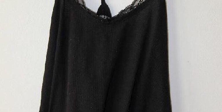 Cotton on black lace tank top