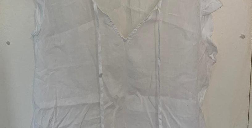 Zara sheer white top