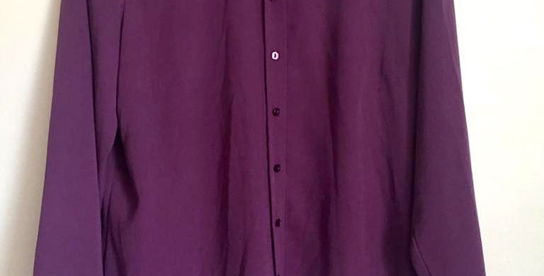 Woolworths purple button up