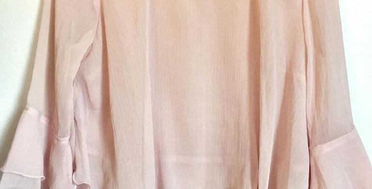 HnM pink sheer shirt