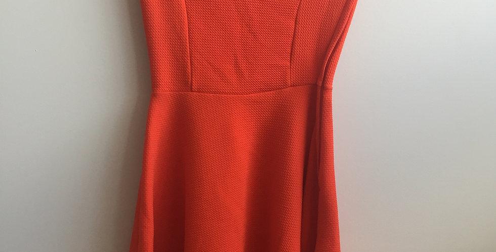 orange off shoulder dress