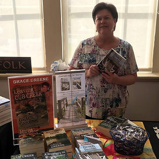 Grace Greene at Suffolk VA Mystery Authors Festival