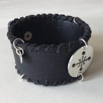 Carl Sentance silver logo bracelet