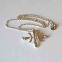 Carl Sentance silver logo necklace