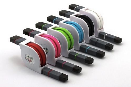 Cable USB retractable 2en1