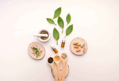 alternative herb medicine with herbal the organic natural ingredient and oil capsule.food