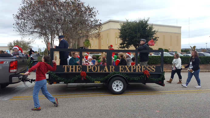 polar express christmas float