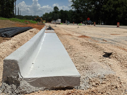 fresh curb installed on hwy 31