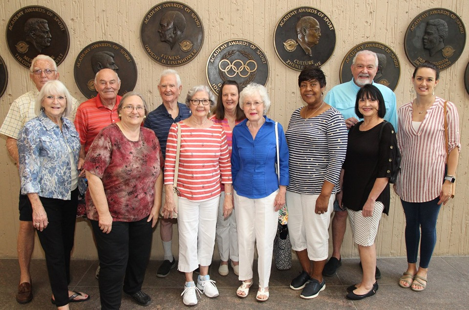 group from the senior center at american sport art museum and archives