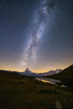 Milchstrasse über Matterhorn