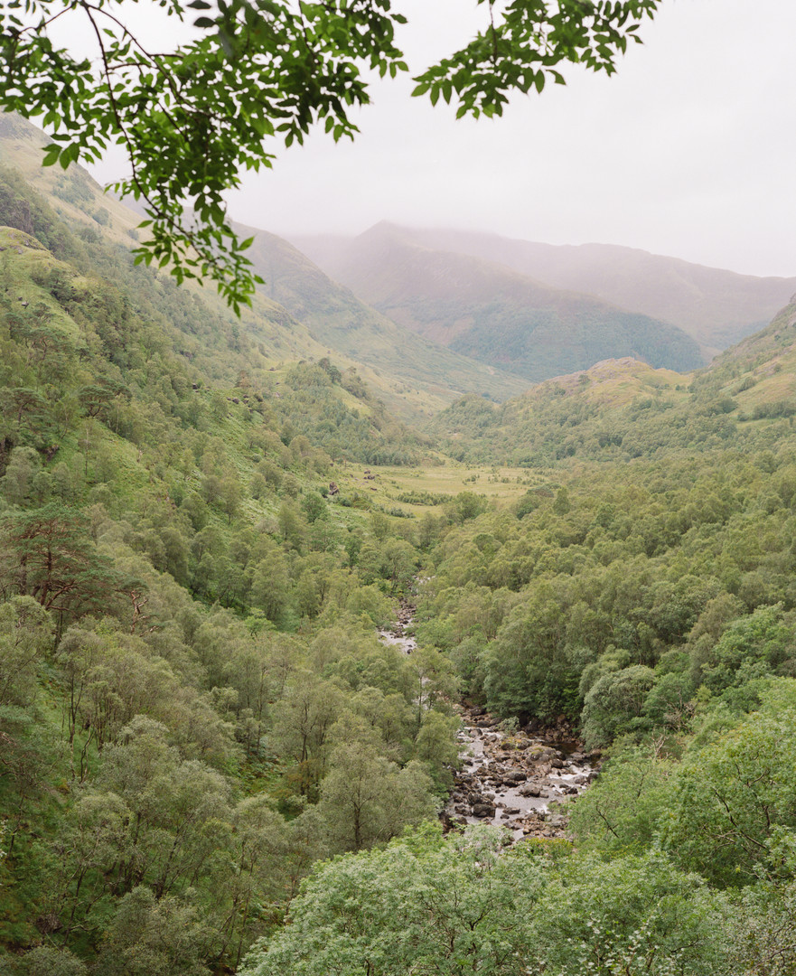 River from Steall waterfall
