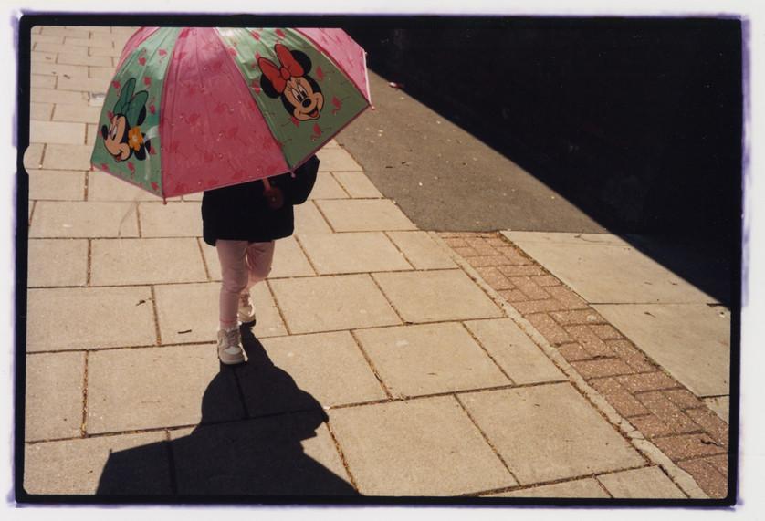 Mickey umbrella, Caledonian road