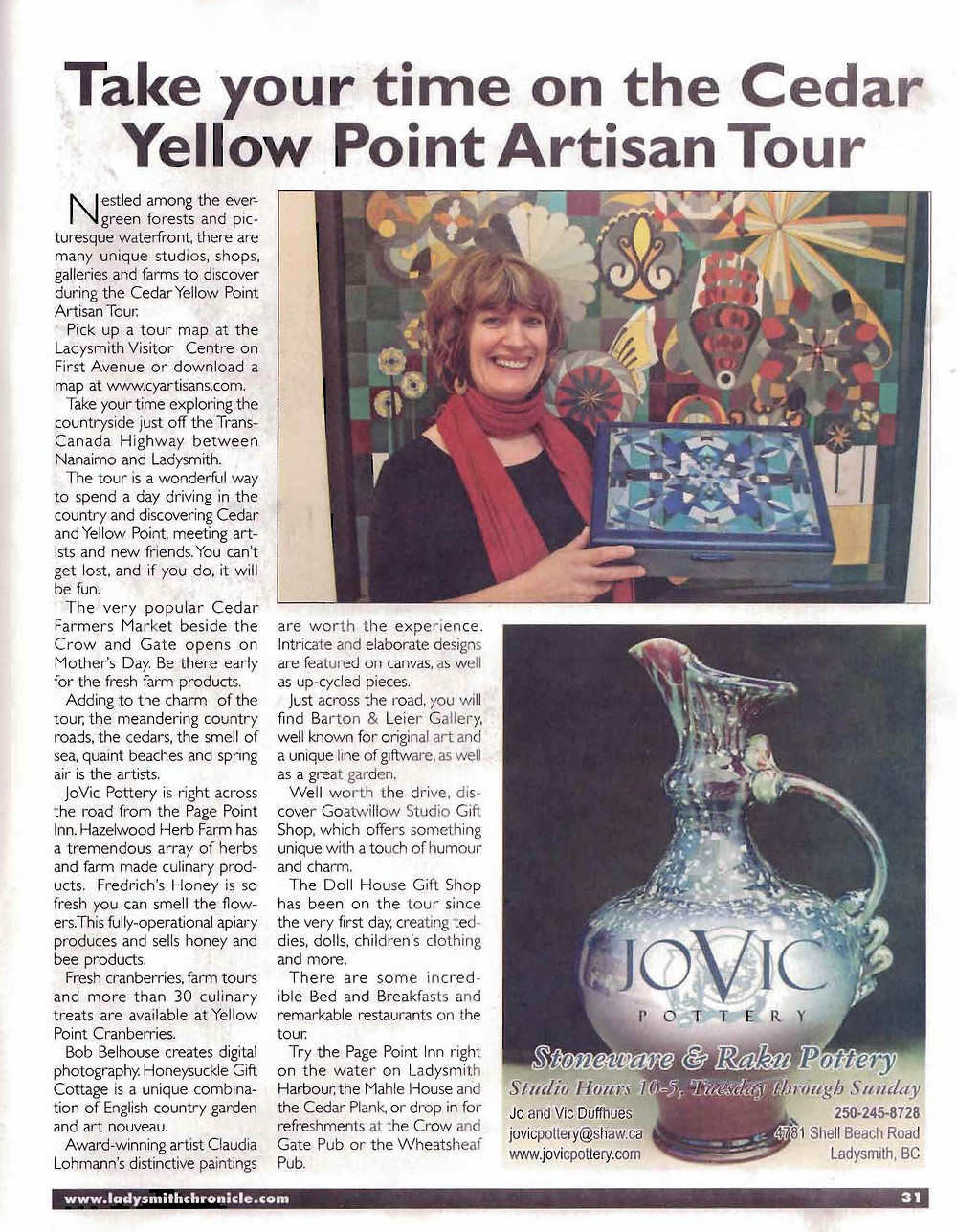 Ladysmith Chronicle Article