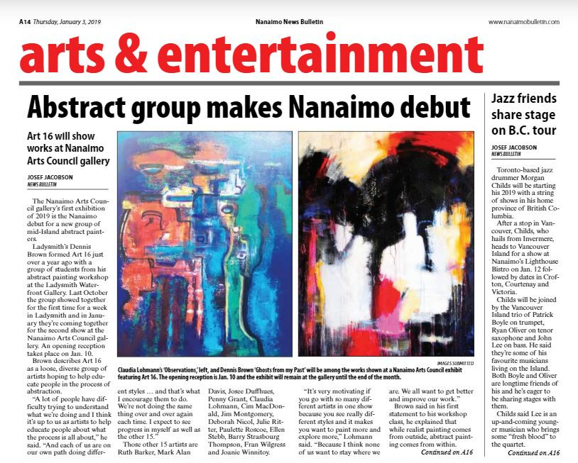 Nanaimo News Bulletin Article Page A14 Jan 3, 2019 Issue