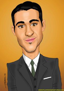 caricaturas a color por encargo personalizadas_famosos_television_duque_sin teta
