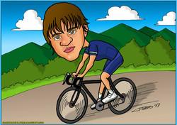 caricaturas a color por encargo personalizadas_ciclista2_elmundodeplatero copia2