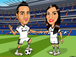 caricaturas a color por encargo personalizadas_futbolistas real madrid Santiago