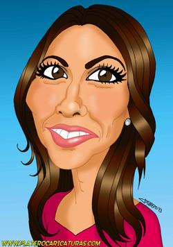 Caricatura Ana Pastor_platerocaricaturas_José Luis Platero dibujante caricaturis