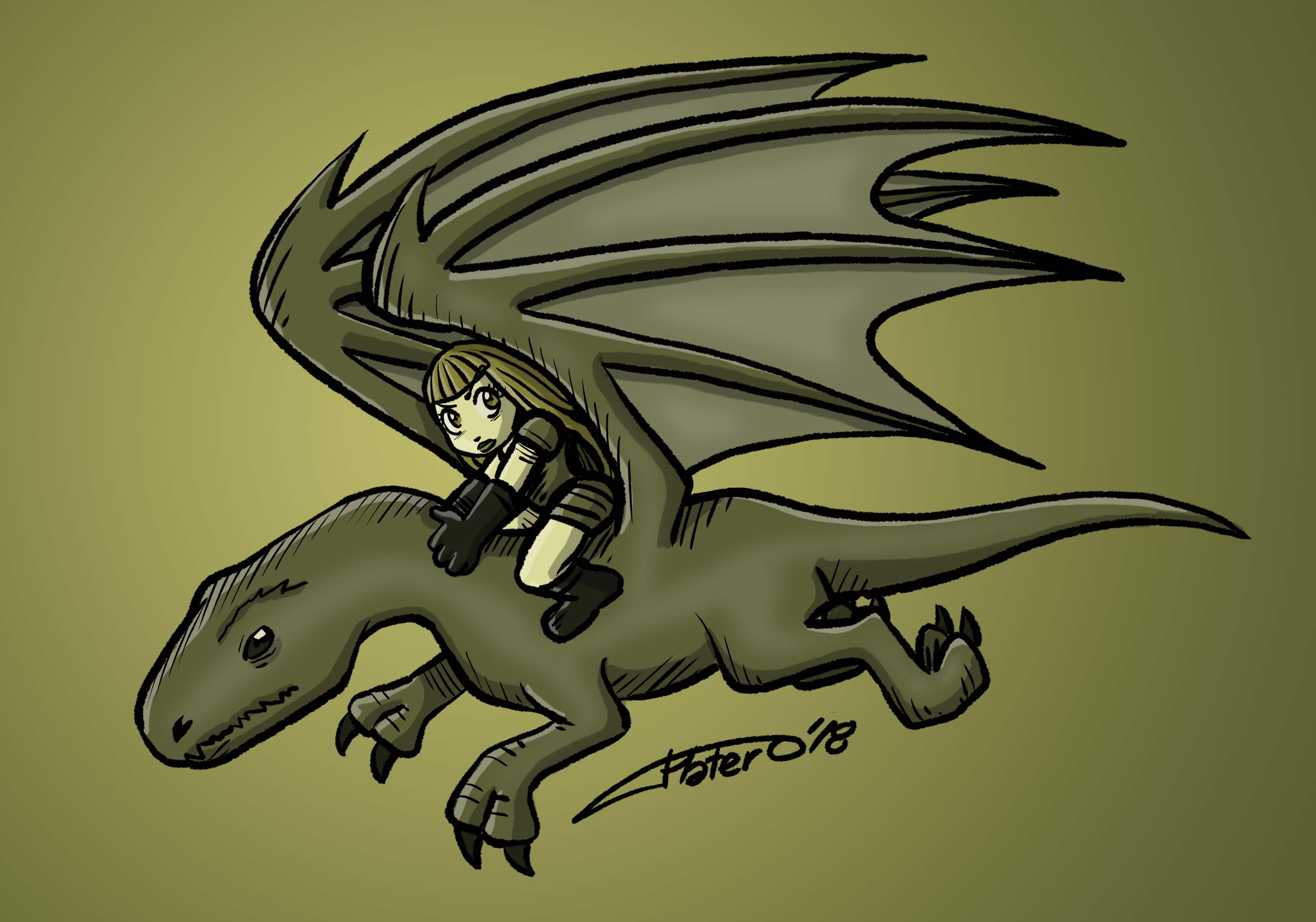 COLOR_guerrerilla sobre dragon_plateroca