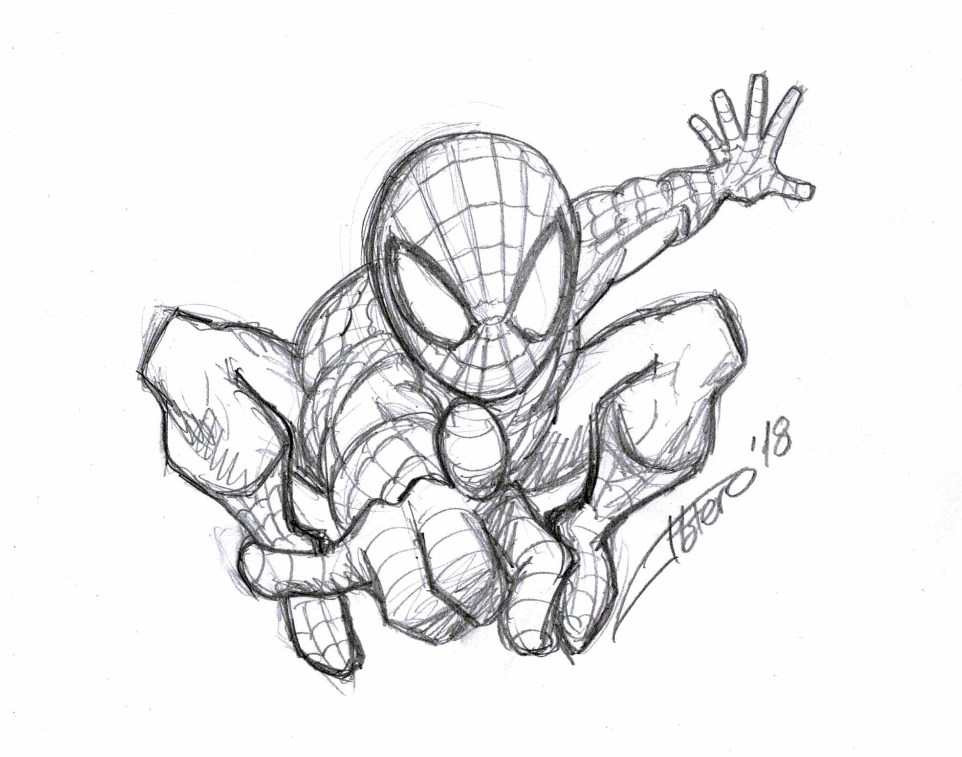 Boceto Spiderman