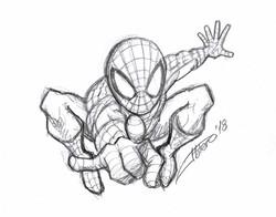 Boceto Spiderman