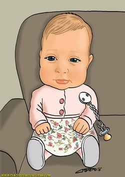 caricaturas_a_color_por_encargo_niña_bebé_platerocaricaturas_jose_luis_platero