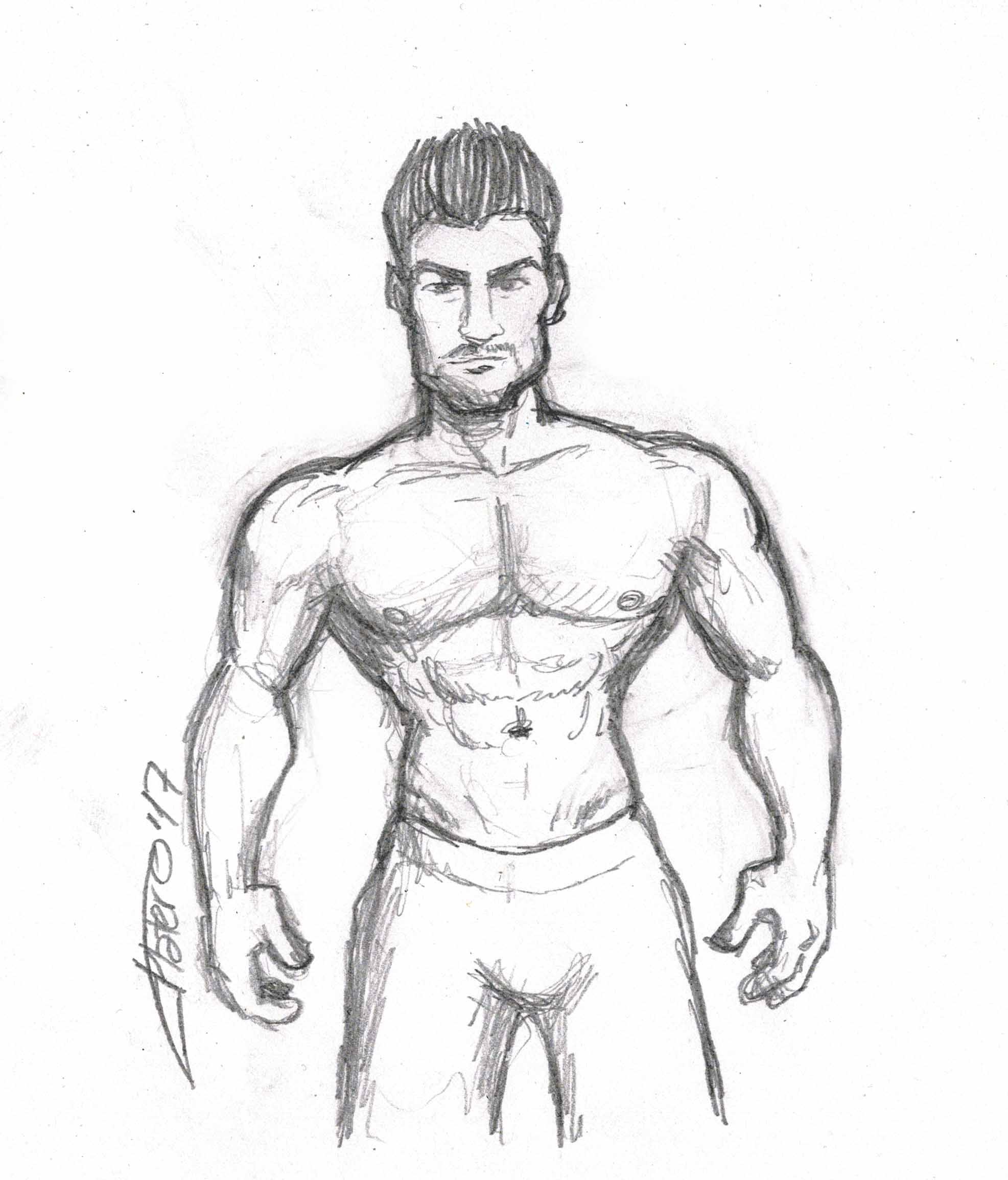 chico_hombre_musculoso_jose_luis_platero_dibujo_lapiz_sketch