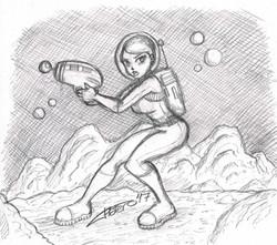 Chica astronauta