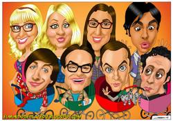 caricaturas_the_big_bang_theory_Johnny_Galecki_Jim_Parsons_Leonard_Sheldon_José_