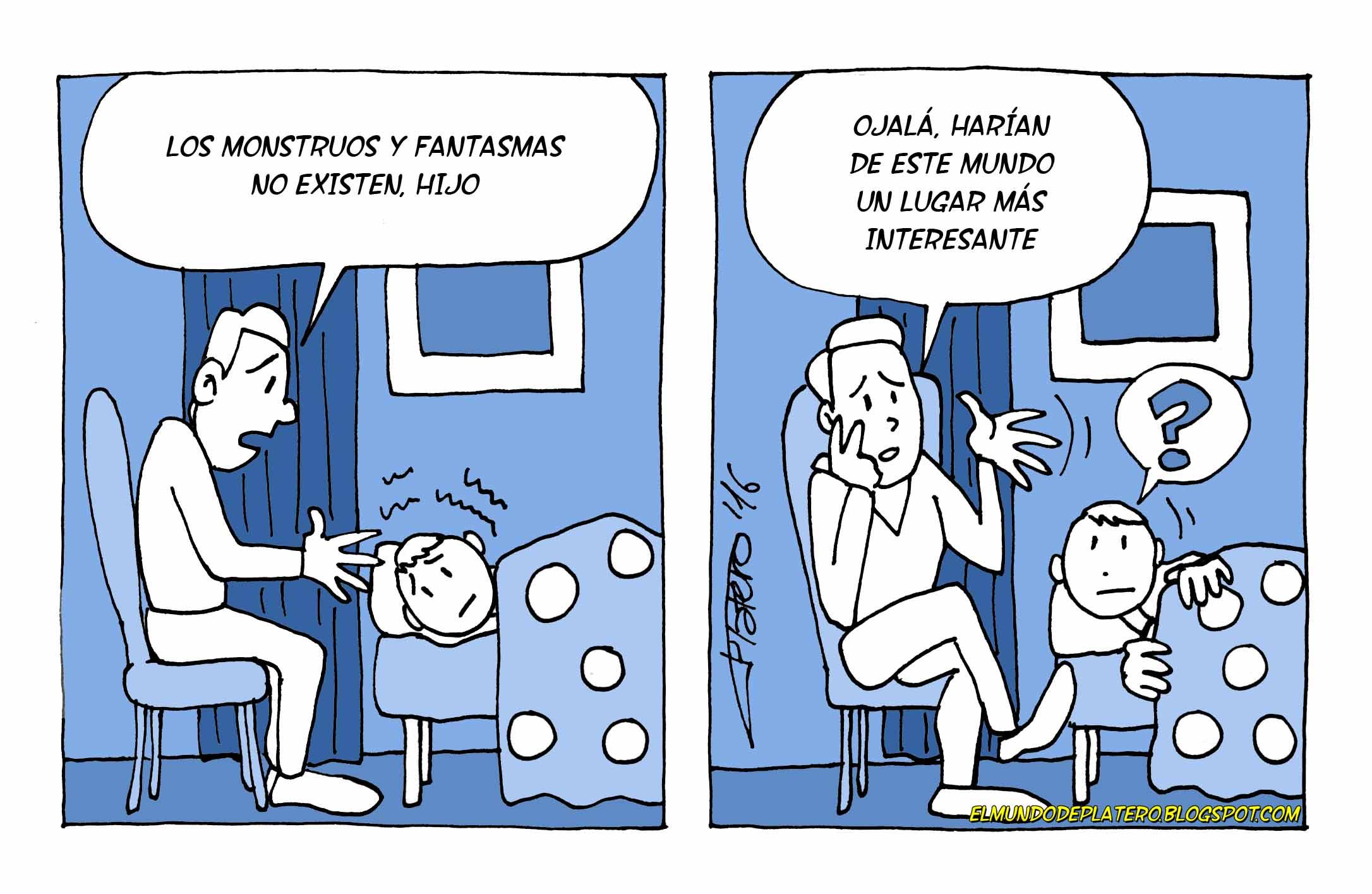 los_fantasmas_no_existen_josé_luis_platero_elmundodeplatero_viñetas_de_humor