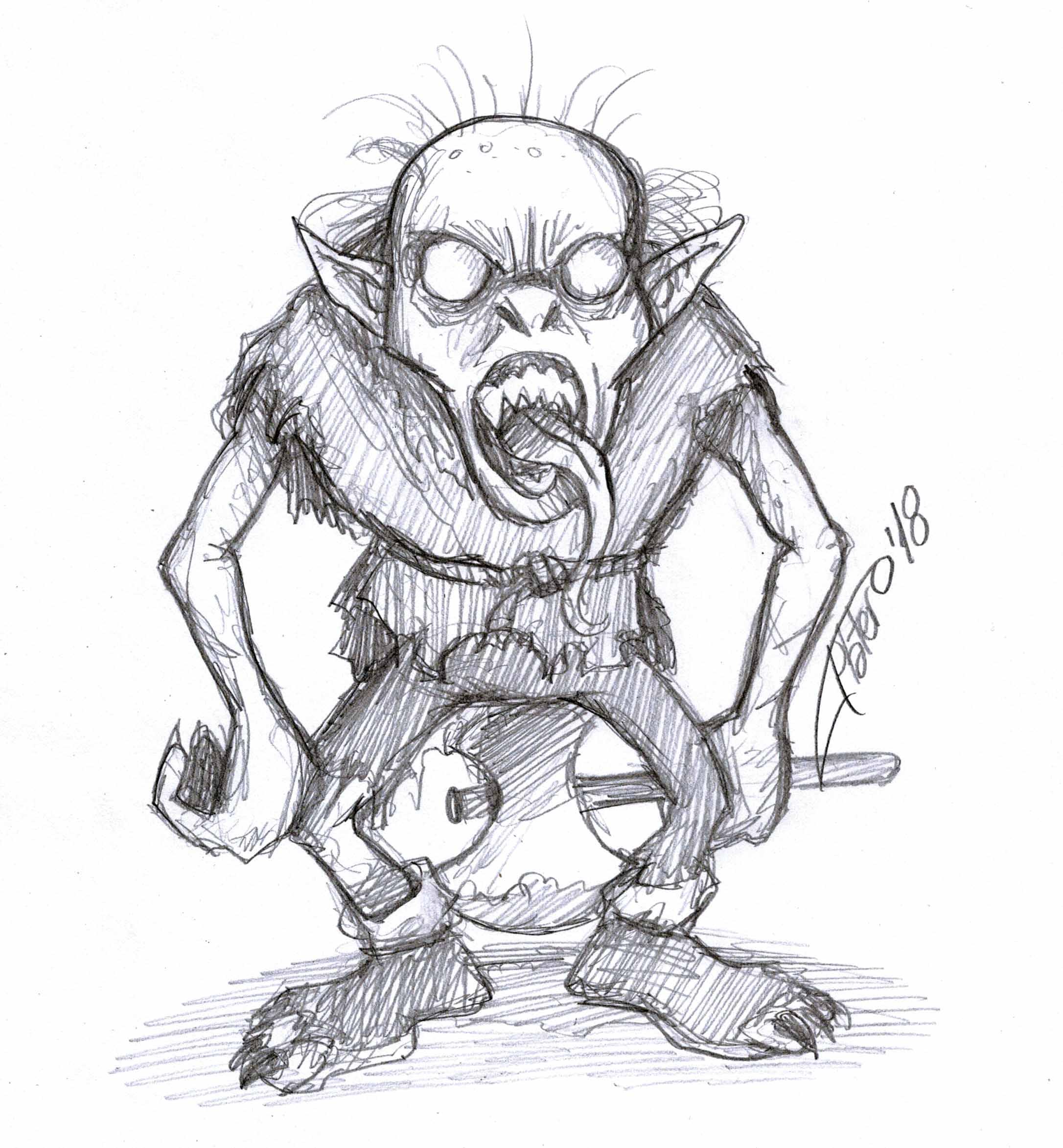 Duende zombie