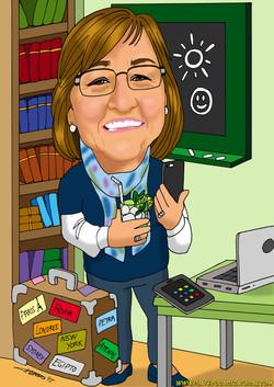 caricaturas_a_color_por_encargo_personalizadas_profesora_con_pizarra_platerocari