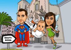 pareja_con_niño_caricatura_caricaturas_platerocaricaturas