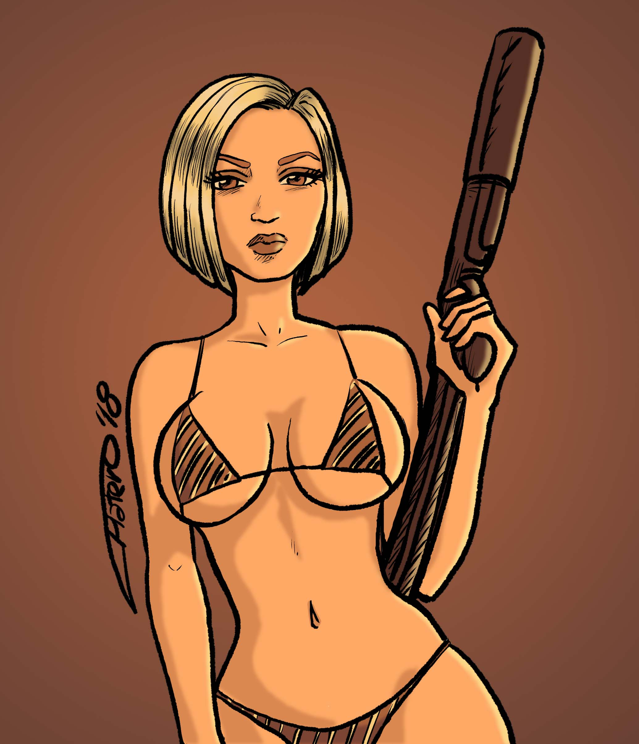 color_chica_jose_luis_platero_dibujo_lapiz_sketch_bikini