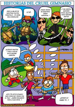 tortugas ninja_neo matrix_goku_krilin_dragon ball_historias del cruel gimnasio4_