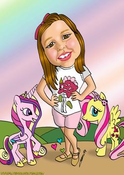 caricatura_a_color_por_encargo_personalizada_niña_elmundodeplatero_josé_luis_pla