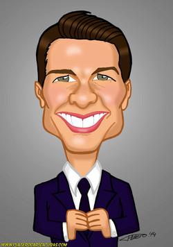 caricaturas a color por encargo personalizadas_famosos_cine_tom cruise_plateroca