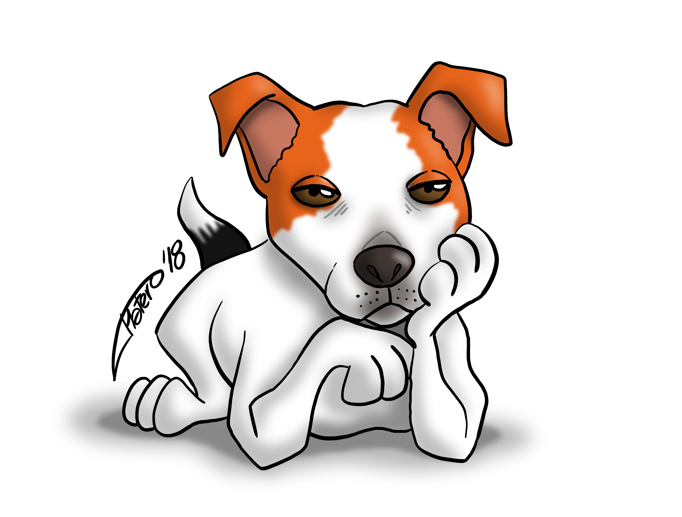 jack_russell_perro_dog_digital_color_caricature_jose_luis_platero