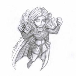 Boceto Supergirl