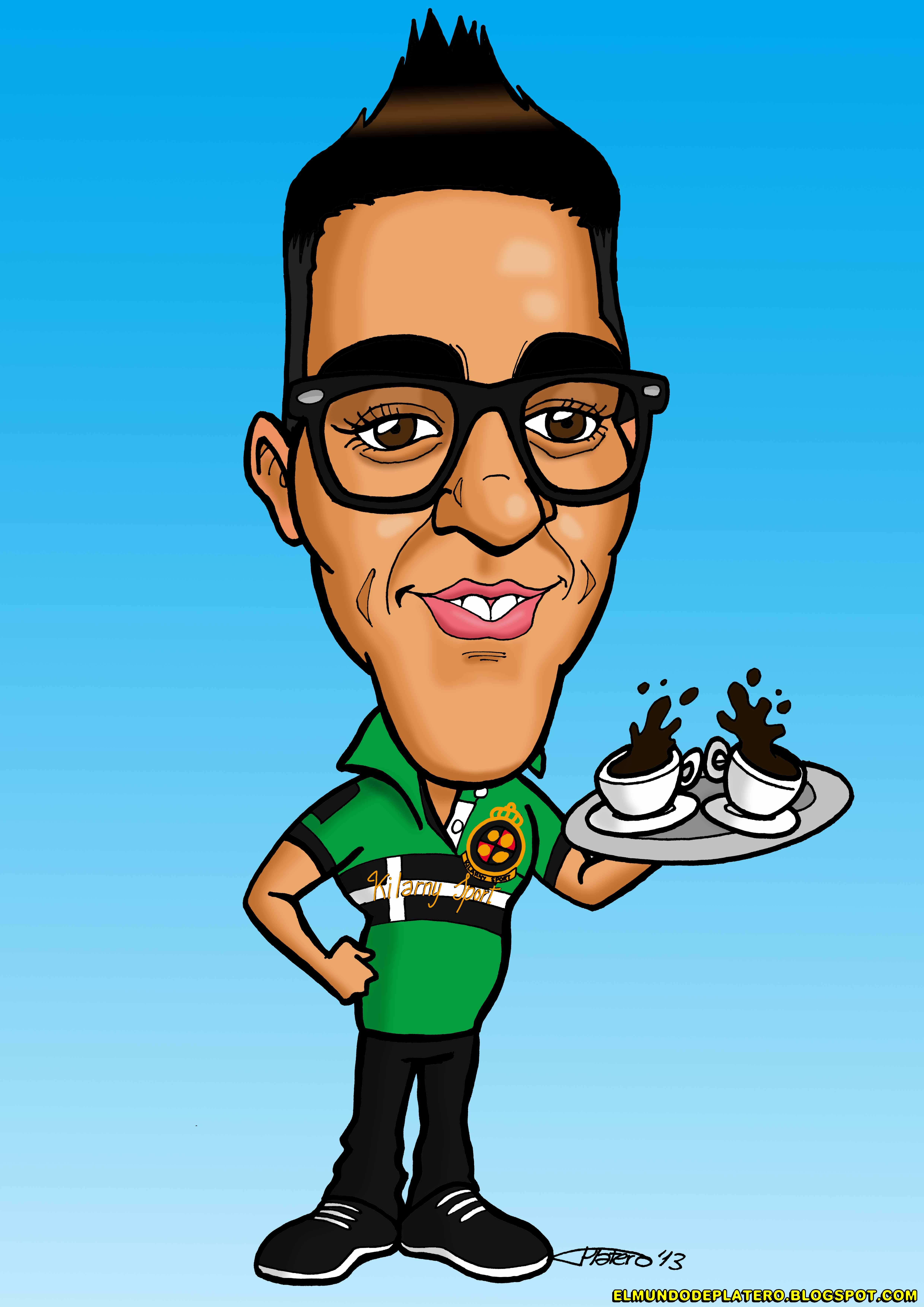 caricatura a color personalizada por encargo_nolo vázquez_elmundodeplatero_josé