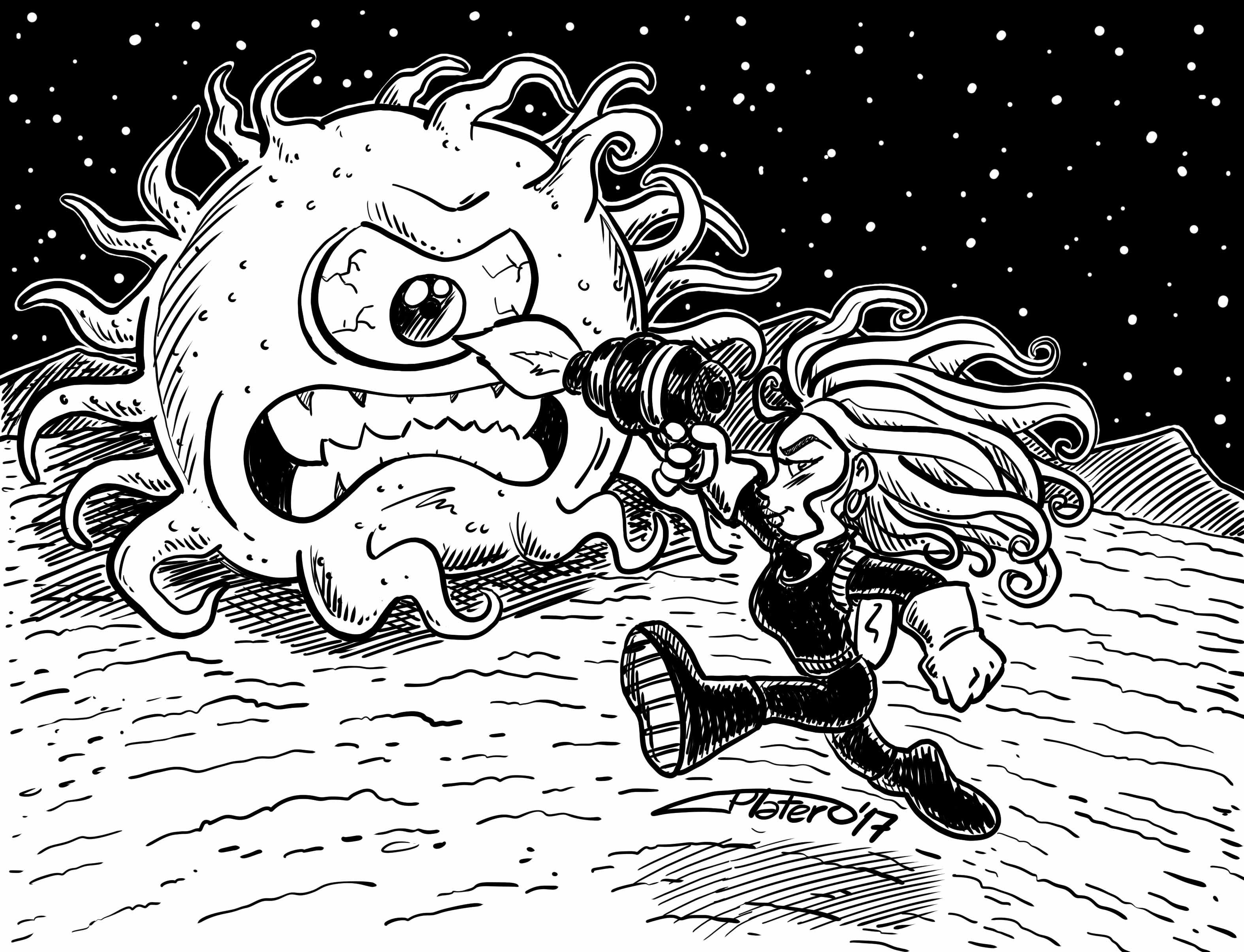 Batalla espacial a tinta