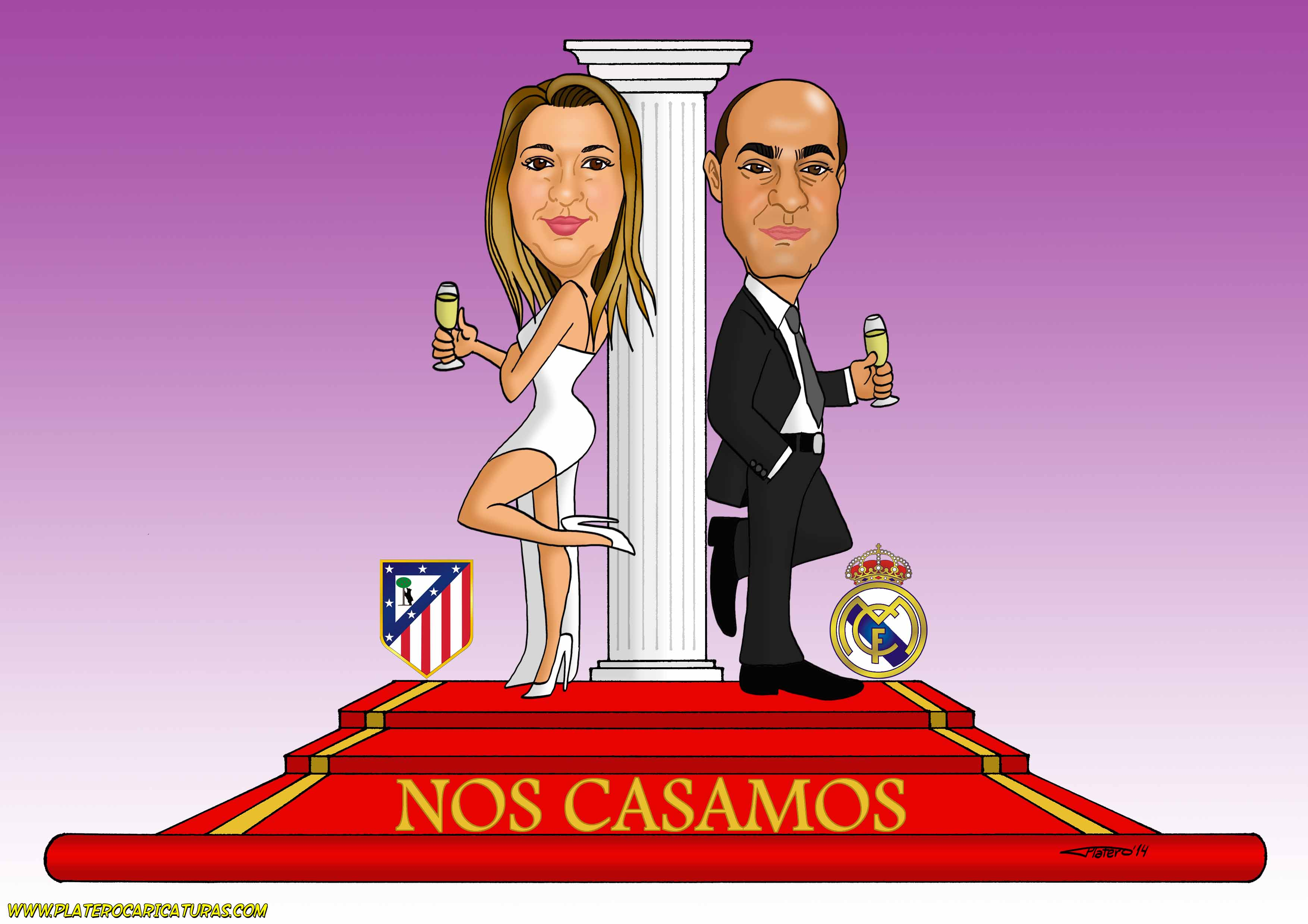 caricaturas_a_color_por_encargo_personalizadas_novios_equipos_de_fútbol_boda_elm