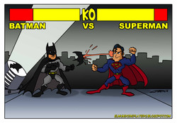 batman vs superman_dc_comics_platerocaricaturas_elmundodeplatero_jose luis platero