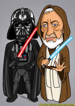 caricaturas a color_star wars_episode 4_a new hope_cine_la guerra de las galaxia
