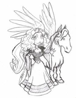 Princesa con Pegaso