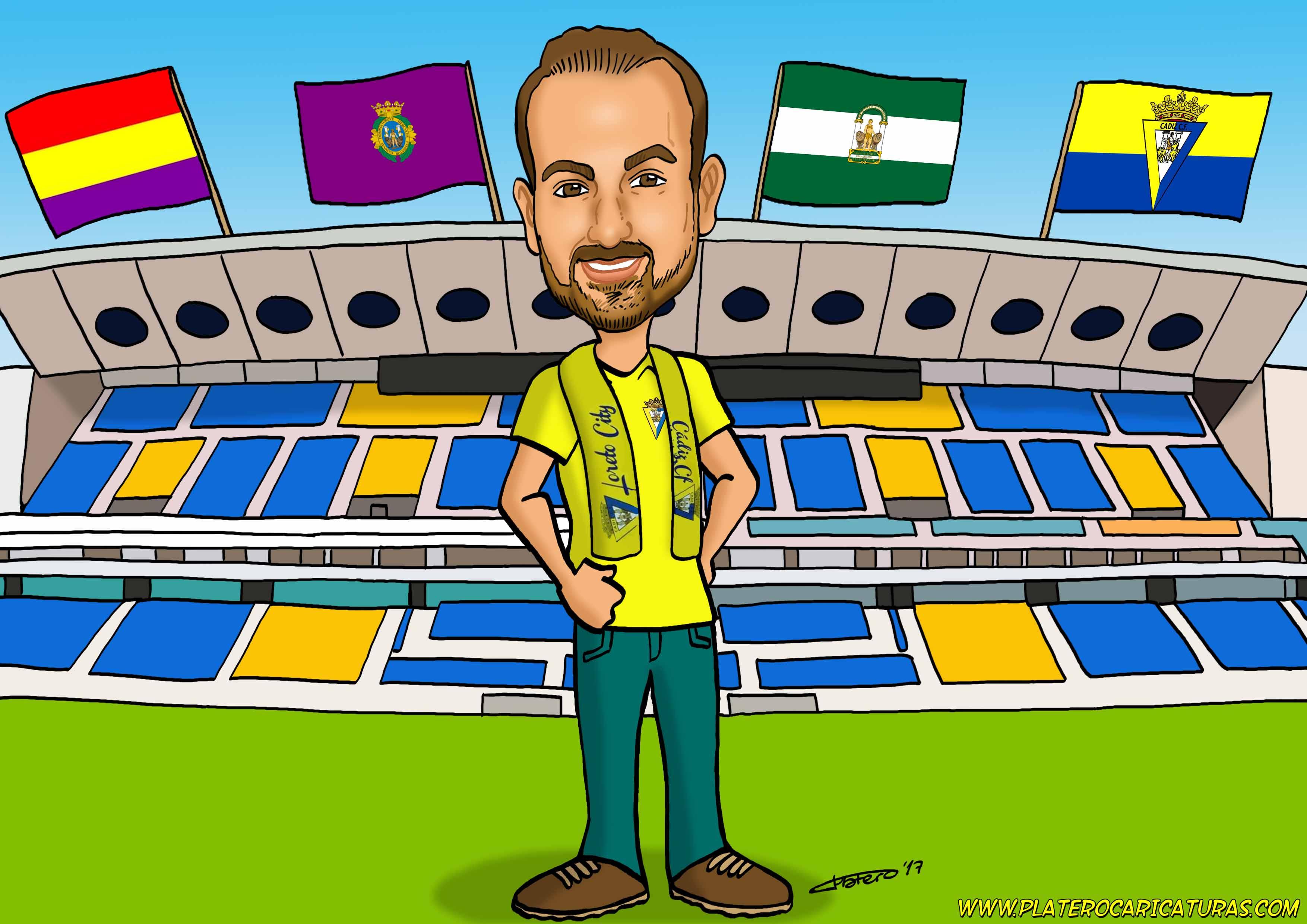 caricaturas_a_color_por_encargo_personalizadas_chico_futbol_platerocaricaturas_elmundodeplatero_josé